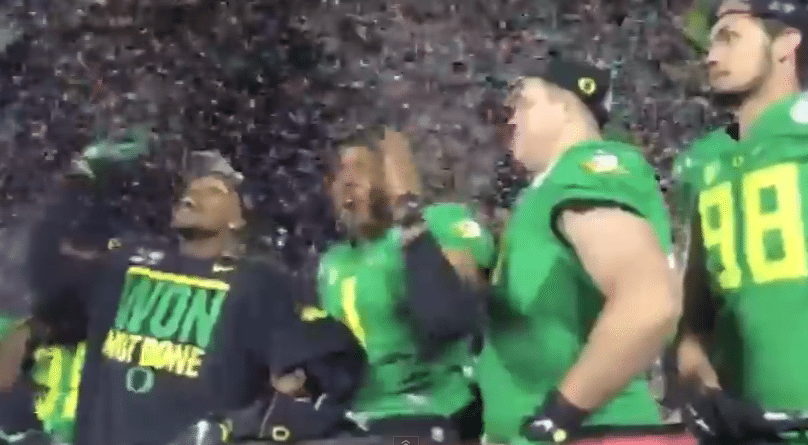 """Oregon Ducks Chant """"No Means No"""" While Doing the Tomahawk Chop – Even Though Their School is Embroiled in its Own Sexual Assault Scandal"""