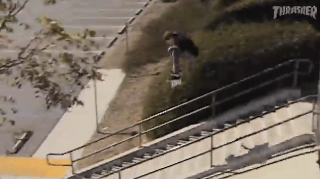 Tommy Sandoval Jumps a 20 Stair Set