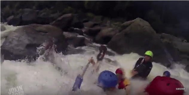 white water rafter