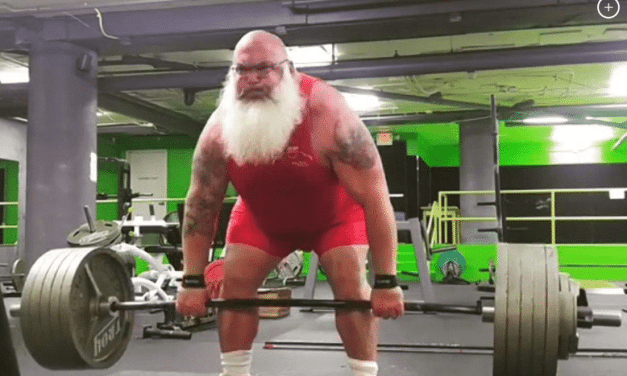 Albie Mushaney is a Big Bad Santa