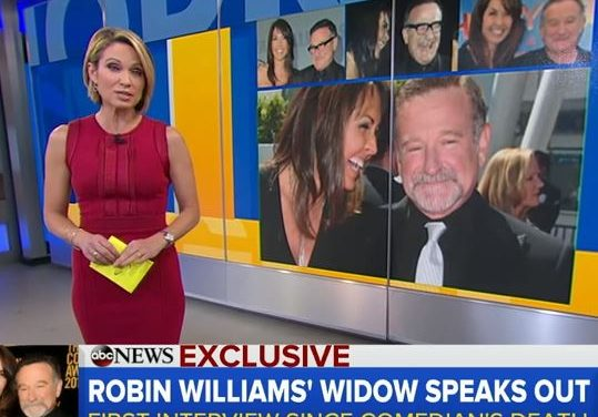 Robin William's Widow Gives First Interview Since Comedian's Suicide