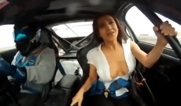 Hot Girl Taken For A Ride In A Drift Car