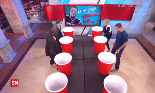Rob Gronkowski Plays Giant Flip Cup for Sports Nation
