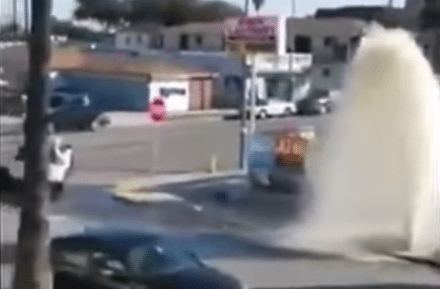 Two Girl's Argument Leads to Car Crash Derby and Hydrant Water Break!