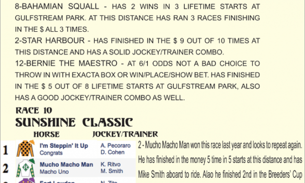 2013 Gulfstream Park – Sat. Jan. 19th