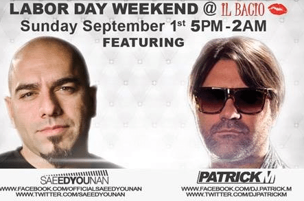 iL Bacio All White Party Labor Day Weekend!