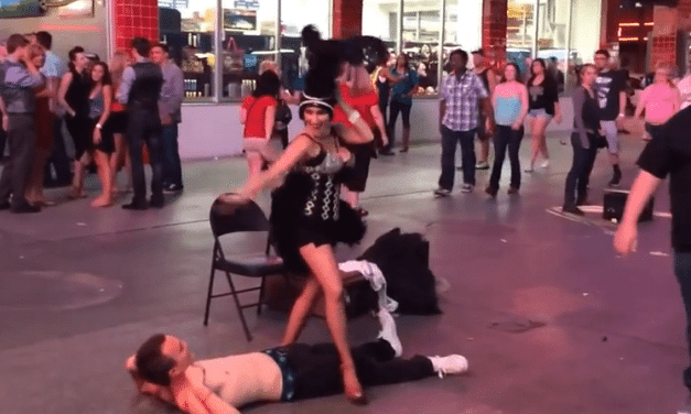 Vegas Street Performer Has An Accident on a Crowd Member! #OMG…