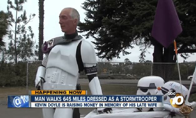 Man Walks 645 Miles Dressed As A Storm Trooper
