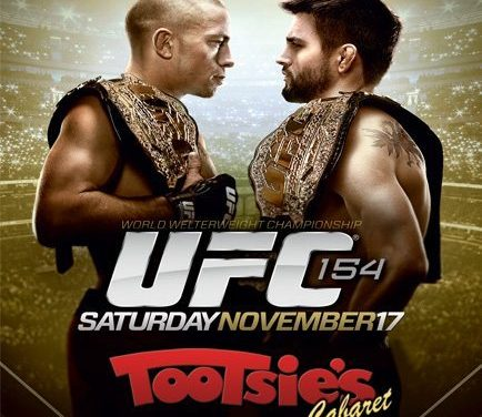 St. Pierre Vs Condit Tonight at Tootsie's!