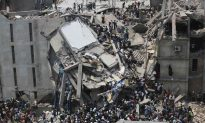 100 Dead After Building With 2,000 People Inside Collapses in Bangladesh