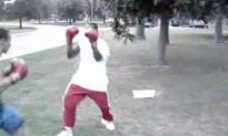 Who Wants To See A Dude Get Knocked The F*ck Out Into A Pond?  I Do….