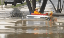 Fearless Firemen Drive Through 11 Foot Flood Waters