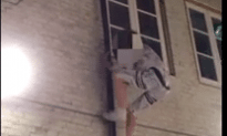 Drunk Guy In Star Wars PJ's Takes A Fall