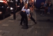 Bouncer Body Slams Dude Outside of the Club