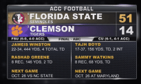 Florida State Wins the Game of the Year!