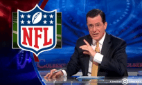 Stephan Colbert Clowns the NFL's Ridiculous Media Rules