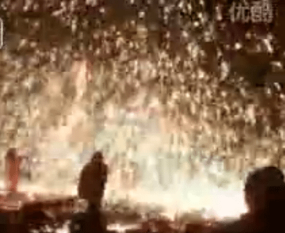 China Throws Molten Iron To Celebrate New Lunar Year
