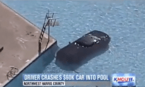 Driver Crashes 60K Car Into A Pool