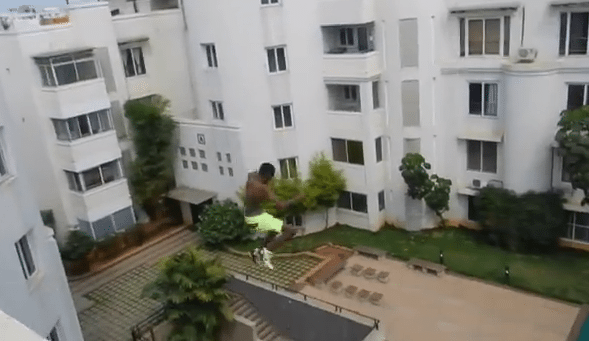 Guy Jumps Off 70 Foot Roof Into A Pool Print Killer