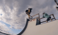 Shredding a Floating Mini Ramp