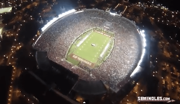 Here is What It's Like to Parachute Into Doak Campbell Stadium