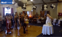Baby Is Dropped At Wedding For Flower Bouquet