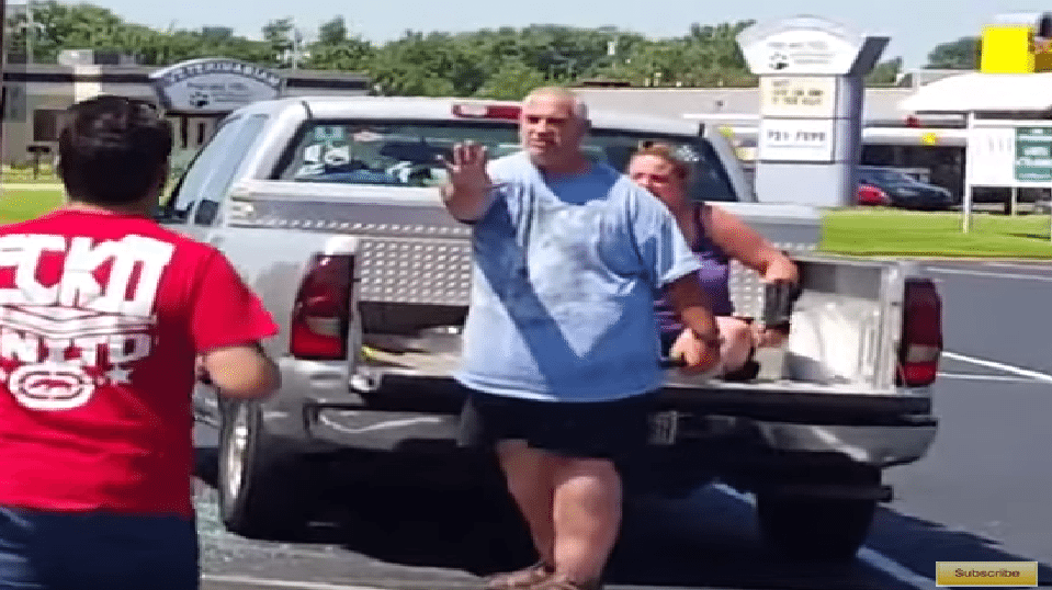 Two Men Help A Lady Being Attacked By Her Crazy Husband