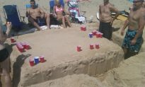 This is How You Play Beer Pong on the Beach