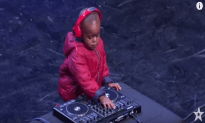 Three Year Old DJ Gets The Crowd Going