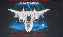 Somebody Get Jimmy Hoffa Jr. This Sweet 80's Fighter Jet Tee Shirt…