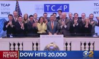 Dow Hits 20,000 For First Time
