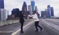 Houston Man Stops Traffic On Busy Highway To Propose To Girlfriend