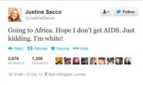 And The Award For Dumbest Tweeter Of the Year Goes To: PR Executive, Justine Sacco