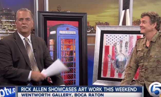 Rick Allen is Displaying his Artwork this Weekend