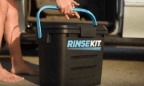 Rinsekit is for Showering on the Go!