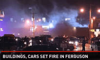 Massive Looting and Businesses Set A Fire in Ferguson