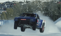 Pro4 Truck Racing in Snowy Conditions