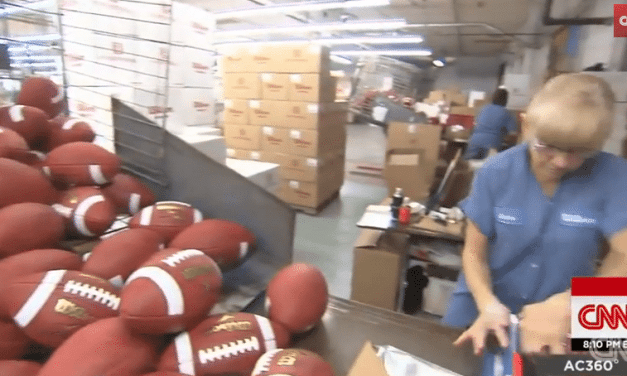 This Factory Makes All The NFL Footballs