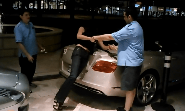 Drunk Girl Jumps on the Hood of a Bentley at Blue Martini in Fort Lauderdale