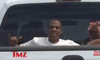 Beyonce and Jay Z Seen Riding Around In A Pickup Truck Bed