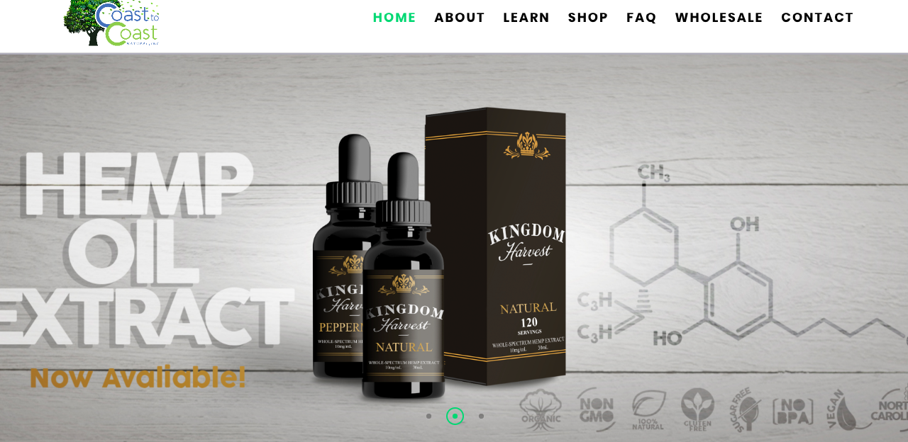 Coast to Coast Natural is a CBD and Hemp Oil Wonderland