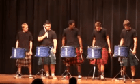Drum Line Balls Out at School Talent Show