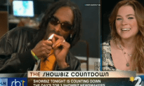 Snoop Lion Smokes a Blunt During a Live Interview