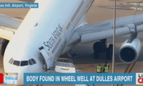 Man's Body Found In Landing Gear of an Airplane