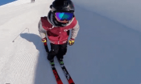 This Chick is a Baller on Skis