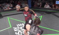 Girl KO's Another Girl With a Brutal Kick to the Face