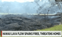 Lava is Flowing Over a Town in Hawaii