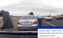 Traffic Cop Gets Shot In The Back While Writing Citation!
