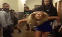 Waka Flocka Isn't Impressed By Drunk Girl Dancing In Front Him!