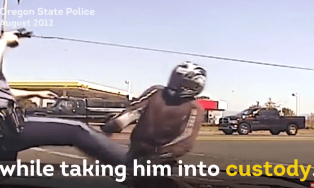 Dashcam Captures Oregon State Trooper Violently Kicking Motorcyclist